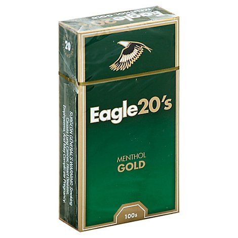 Eagle Cigarettes 20s Menthol Gold Box - Pack