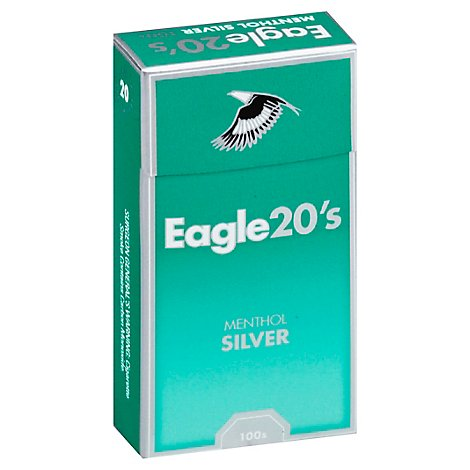 Eagle Cigarettes 20s Menthol Silver Box 100s - Pack