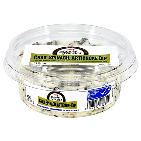 Salads Of The Sea Crab And Spinach Artichoke Dip - 7 Oz