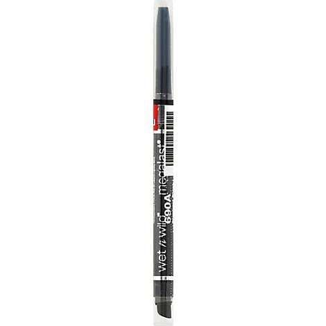Wet N Wild Mega Last Eyeliner Retractable Blackest Black 690A .005 Oz