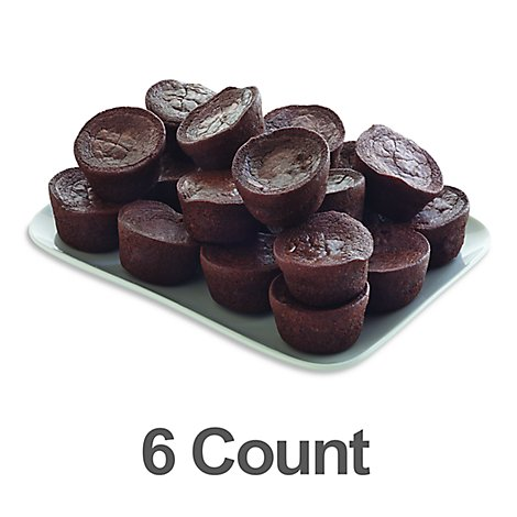 Bakery Brownies Petit Fours 6 Count - Each