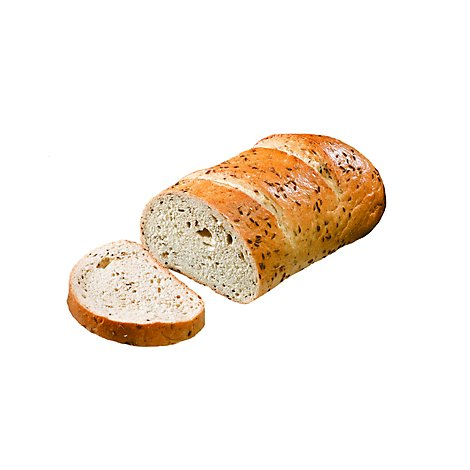 Bakery Bread Rye Seeded Half