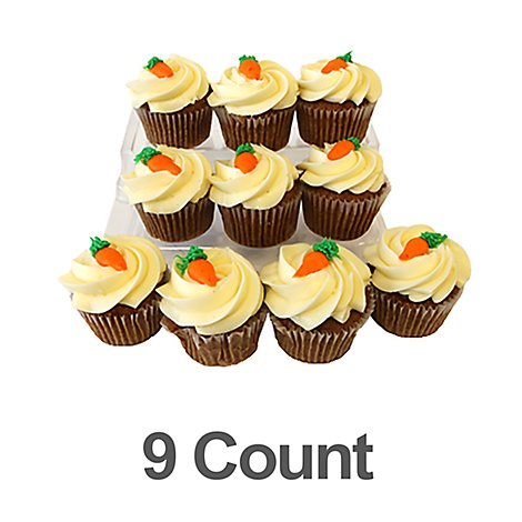Bakery Cupcake Carrot 9 Count - Each