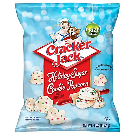 Cracker Jack Popcorn Cookie Holiday Sugar - 4 Oz