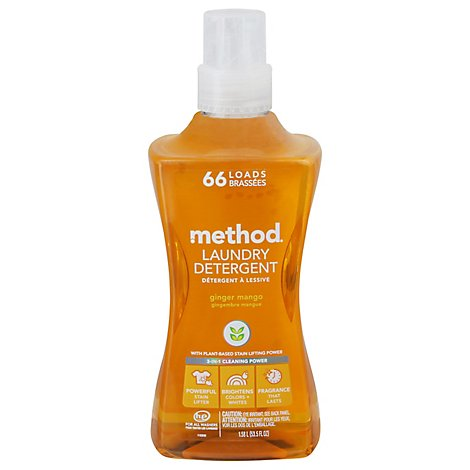 Method Laundry Detergent 4X Concentrated Ginger Mango - 53.5 Fl. Oz.