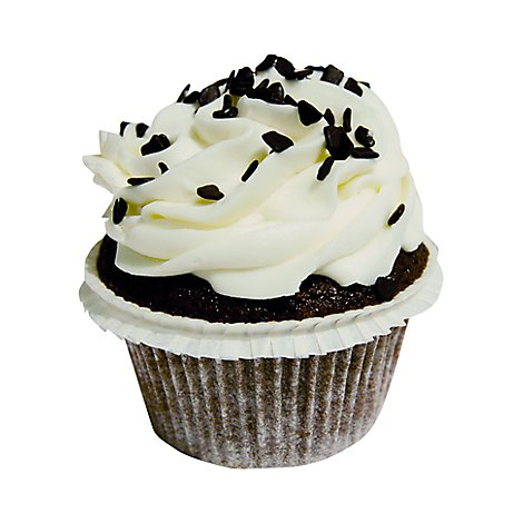 Bakery Cupcake Mini Chocolate With White Icing - Each