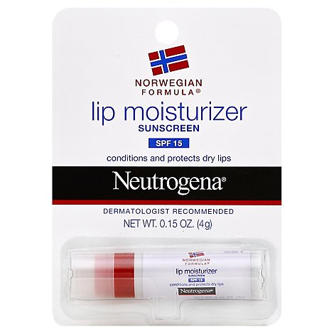Neutrogena Norwegian Formula Lip Moisturizer Sunscreen Spf 15 - 0.15 Oz