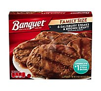 Banquet Family Size Salisbury Steaks & Brown Gravy - 30 Oz