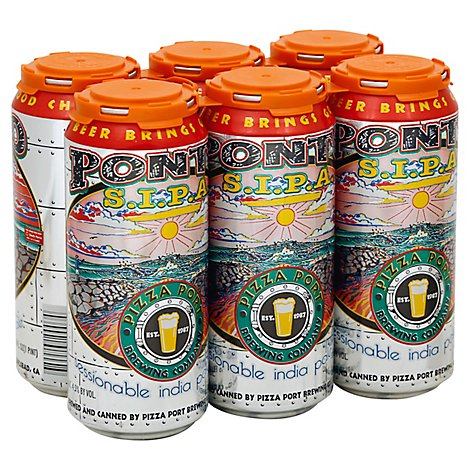 Pizza Port Ponto Session Ipa In Cans - 6-16 Fl. Oz.