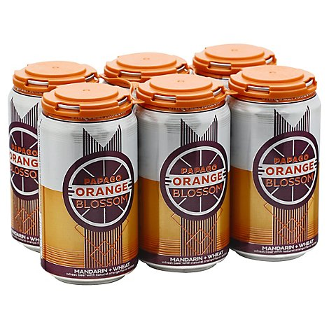 Papago Orange Blossom Beer In Cans - 6-12 Fl. Oz.