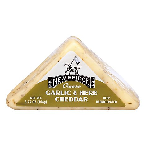 New Bridge Cheese Cheddar Garlic Mini - 3.75 Oz