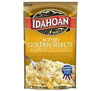 Idahoan Potatoes Mashed Golden Selects Buttery Pouch - 4.1 Oz