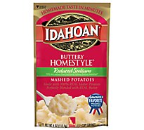 Idahoan Potatoes Mashed Butterly Homestyle Sodium - 4 Oz