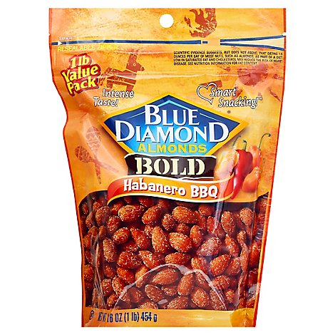 Blue Diamond Almonds Bold Habanero BBQ - 16 Oz