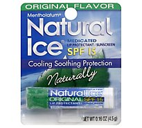 Natural Ice Natural Ice Lip Protectant Sunscreen SPF 15 Original Flavor - .16 Oz