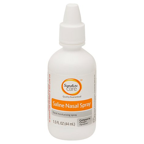 Signature Care Nasal Spray Saline Moisturizing - 1.5 Fl. Oz.