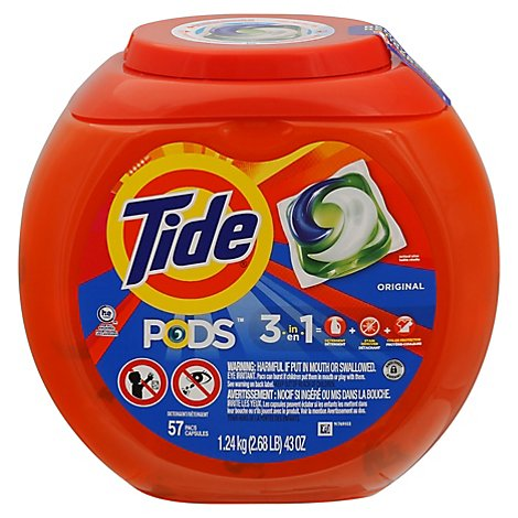 Tide PODS Detergent Pacs Original - 57 Count