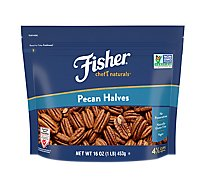 Fisher Chefs Naturals Pecan Halves - 16 Oz