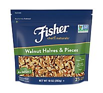 Fisher Chefs Naturals Walnuts Halves & Pieces - 10 Oz