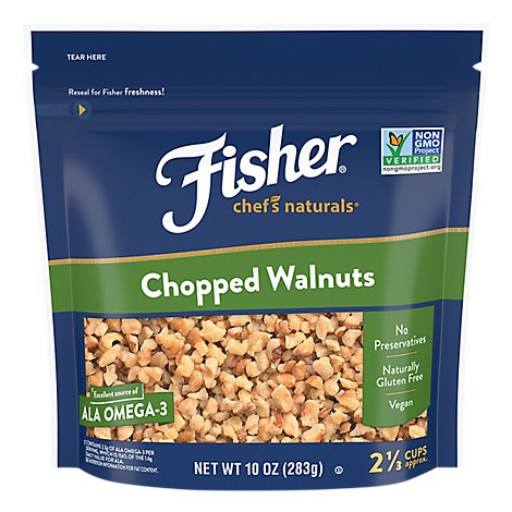 Fisher Chefs Naturals Walnuts Chopped - 10 Oz