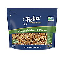 Fisher Chefs Naturals Walnuts Halves & Pieces - 16 Oz