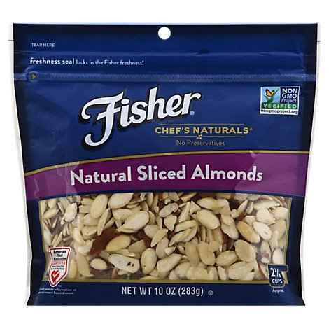 Fisher Chefs Naturals Almonds Natural Sliced - 10 Oz