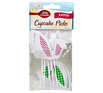 Betty Crocker Cupcake Picks Easter Bunny Ears - 12 Count