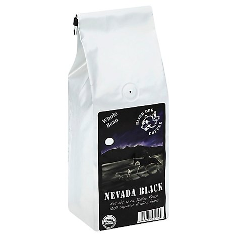 Blind Dog Coffee Coffee Organic Whole Bean Nevada Black Italian Roast - 12 Oz