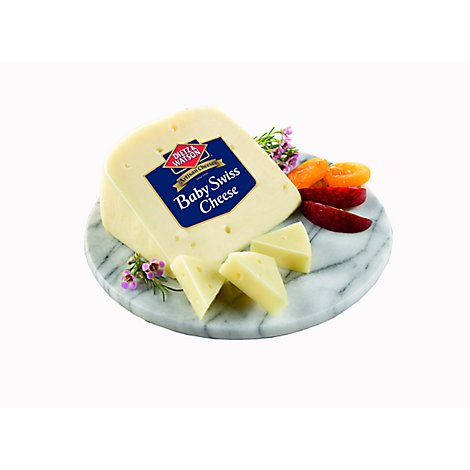 Dietz & Watson Pre Sliced Baby Swiss Cheese - 0.50 Lb