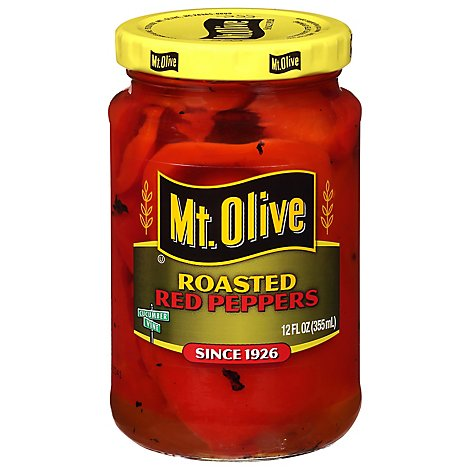 Mt. Olive Peppers Red Roasted - 12 Fl. Oz.