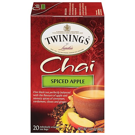 Twinings of London Black Tea Chai Spiced Apple - 20 Count