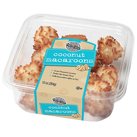 Macaroon Coconut Two-Bites Square Tub - Each