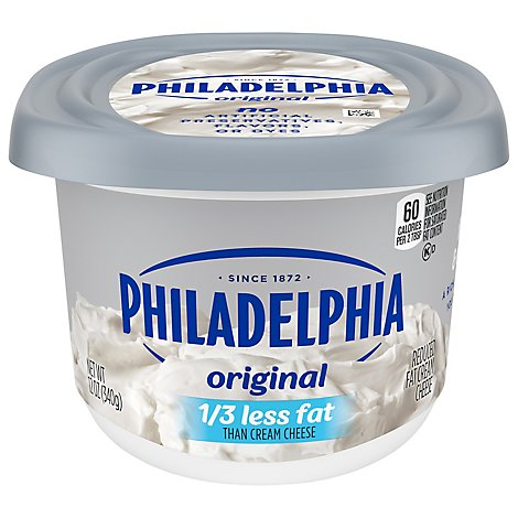 Philadelphia Cheese Cream Reduced Fat 1/3 Less Fat - 12 Oz