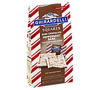 Ghirardelli Chocolate Square Dark Chocolate Peppermint Bark Limited Edition Bag - 7.7 Oz