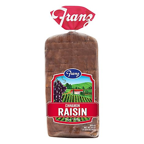 Franz Sandwhich Bread Napa Valley Cinnamon Raisin - 20 Oz