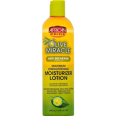 African Pride Olive Miracle Moisture Lotion Maximum Strengthening - 12 Fl. Oz.