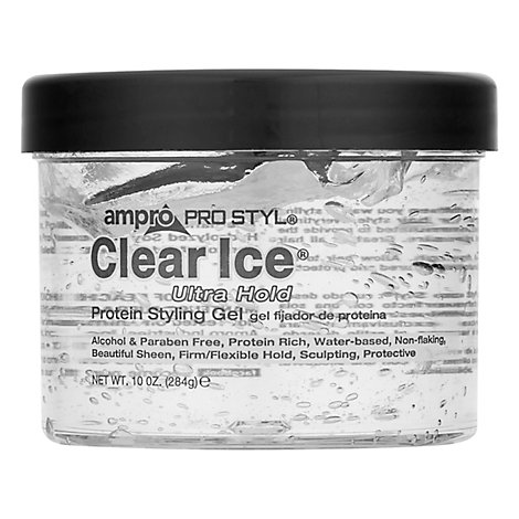 Ampro Pro Style Clear Ice Protein Styling Gel Ultra Hold - 10 Oz