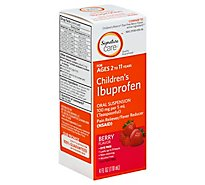 Signature Care Ibuprofen Childrens 100mg PER 5ml Berry Oral Suspension - 4 Fl. Oz.