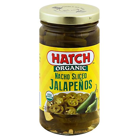 HATCH Jalapenos Organic Nacho Sliced Jar - 12 Oz