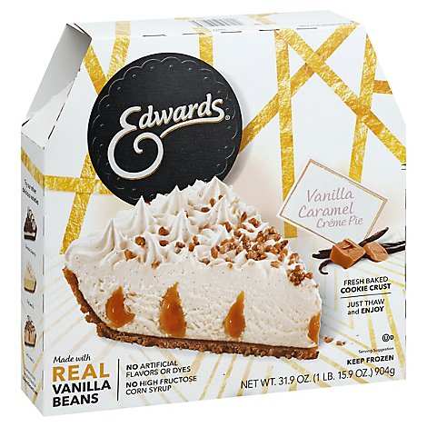 EDWARDS Pie Creme Vanilla Caramel Box Frozen - 31.9 Oz