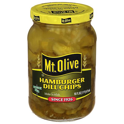 Mt. Olive Pickles Chips Hamburger Dill - 16 Fl. Oz.