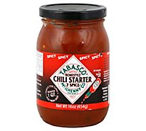 Tabasco Chili Starter Homestyle 7 Spice Spicy Jar - 16 Oz