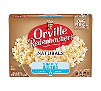 Orville Redenbachers Popping Corn Gourmet Naturals Simply Salted - 6-3.3 Oz
