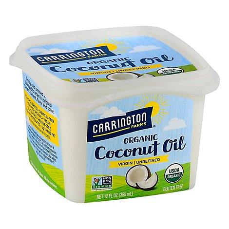 Carrington Farms Coconut Oil Organic Virgin Unrefined - 12 Fl. Oz.