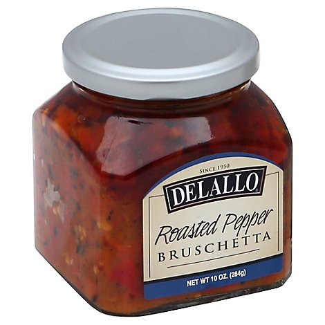 DeLallo Bruschetta Roasted Pepper Jar - 10 Oz