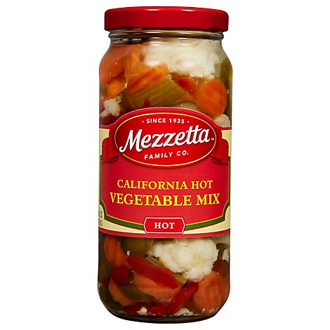 Mezzetta Vegetables Hot Mix California - 16 Oz