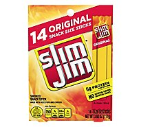 Slim Jim Smoked Snack Sticks Original - 14-0.28 Oz