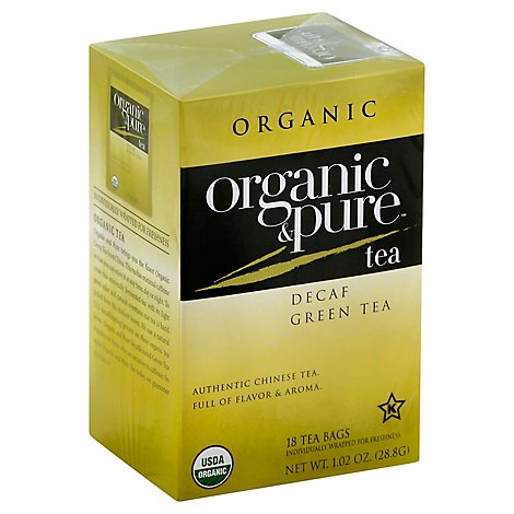 Organic & Pure Green Tea Organic Decaf - 18 Count
