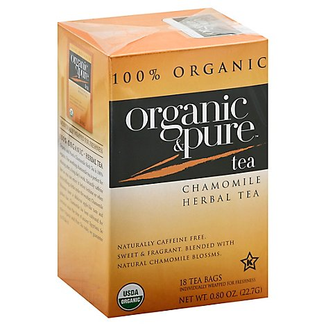 Organic & Pure Herbal Tea Organic Caffeine Free Chamomile - 18 Count