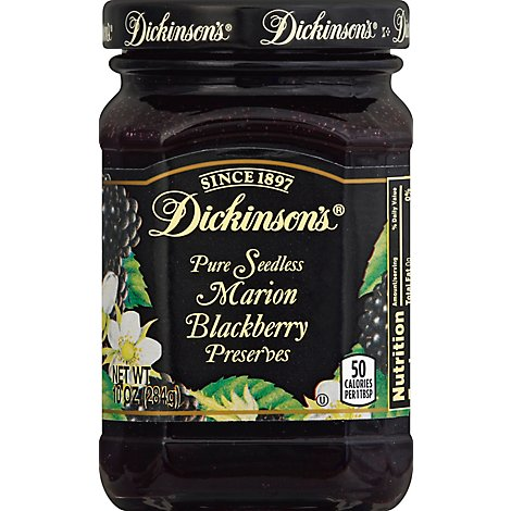 Dickinsons Preserves Pure Seedless Marion Blackberry - 10 Oz